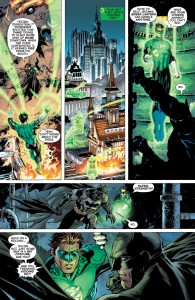 Batman and Green Lantern meet