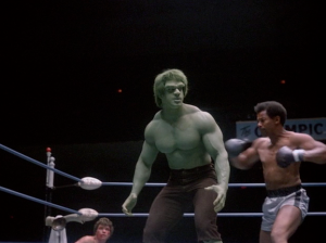 Bill Cole goes for a Hulk KO