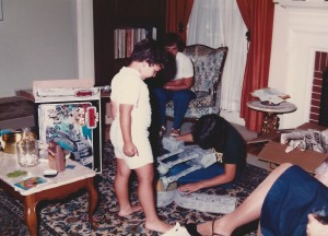 """Are you done yet???""  Arnie's sister builds his AT-AT on Christmas day, 1982."