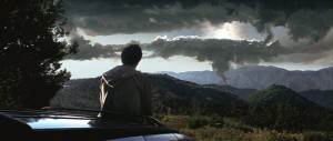 Donnie has a great view of the end of the world.