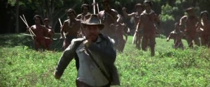 People ran to catch Indiana Jones in Raiders.