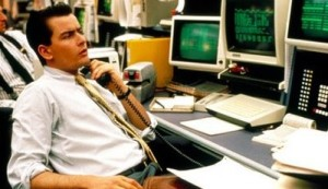 As a child this wasn't how I envisioned the job of a stock broker.