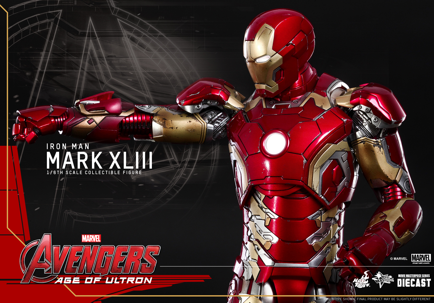 Hot Toys - Avengers Age of Ultron - Mark XLIII Collectible Figure_PR17