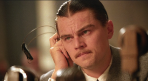 Leo listening to Arnie bash his movie.