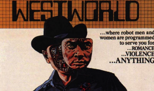 "Yul Brenner as the Gunslinger in ""Westworld."""