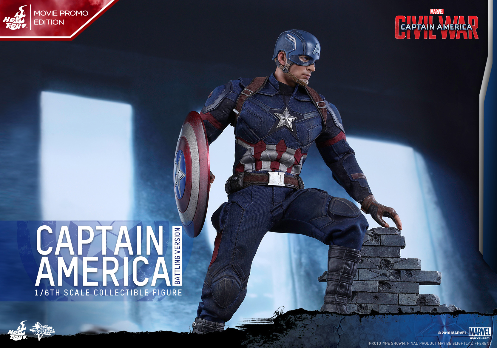 Hot Toys - CACW - Captain America (Battling Version)_PR7