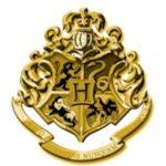 Gold Hogwarts School Crest