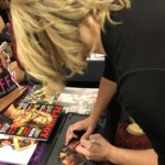"Kristy Swanson signs ""Deadly Friend"" DVD at Days of the Dead Chicago."